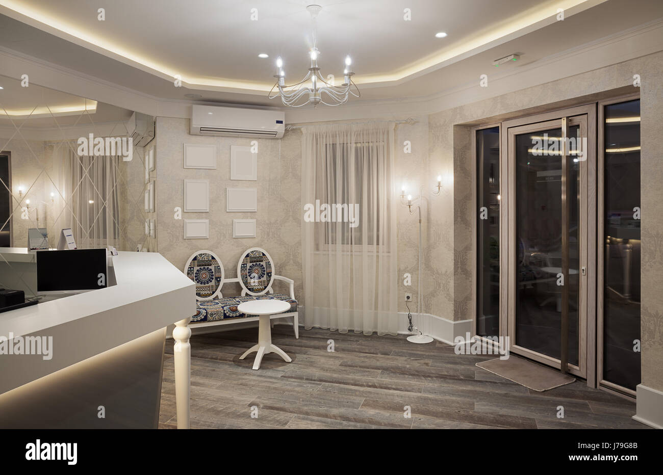modernes mobel design, ein modernes und neues hotel, details der rezeption zimmer, Design ideen