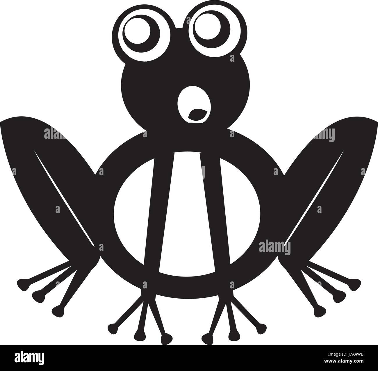 Comic Frosch Zeichen Symbol Vektor Abbildung Bild 142208903 Alamy