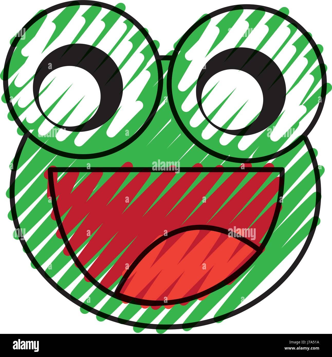 Comic Frosch Zeichen Symbol Vektor Abbildung Bild 142209014 Alamy