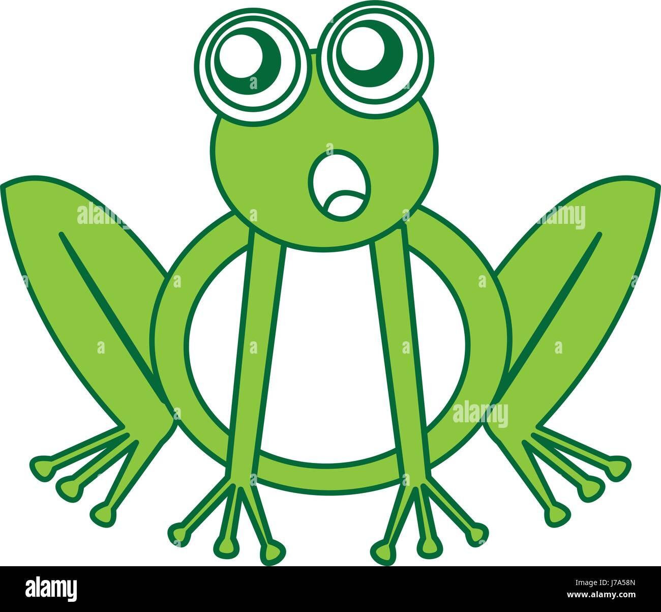 Comic Frosch Zeichen Symbol Vektor Abbildung Bild 142209221 Alamy