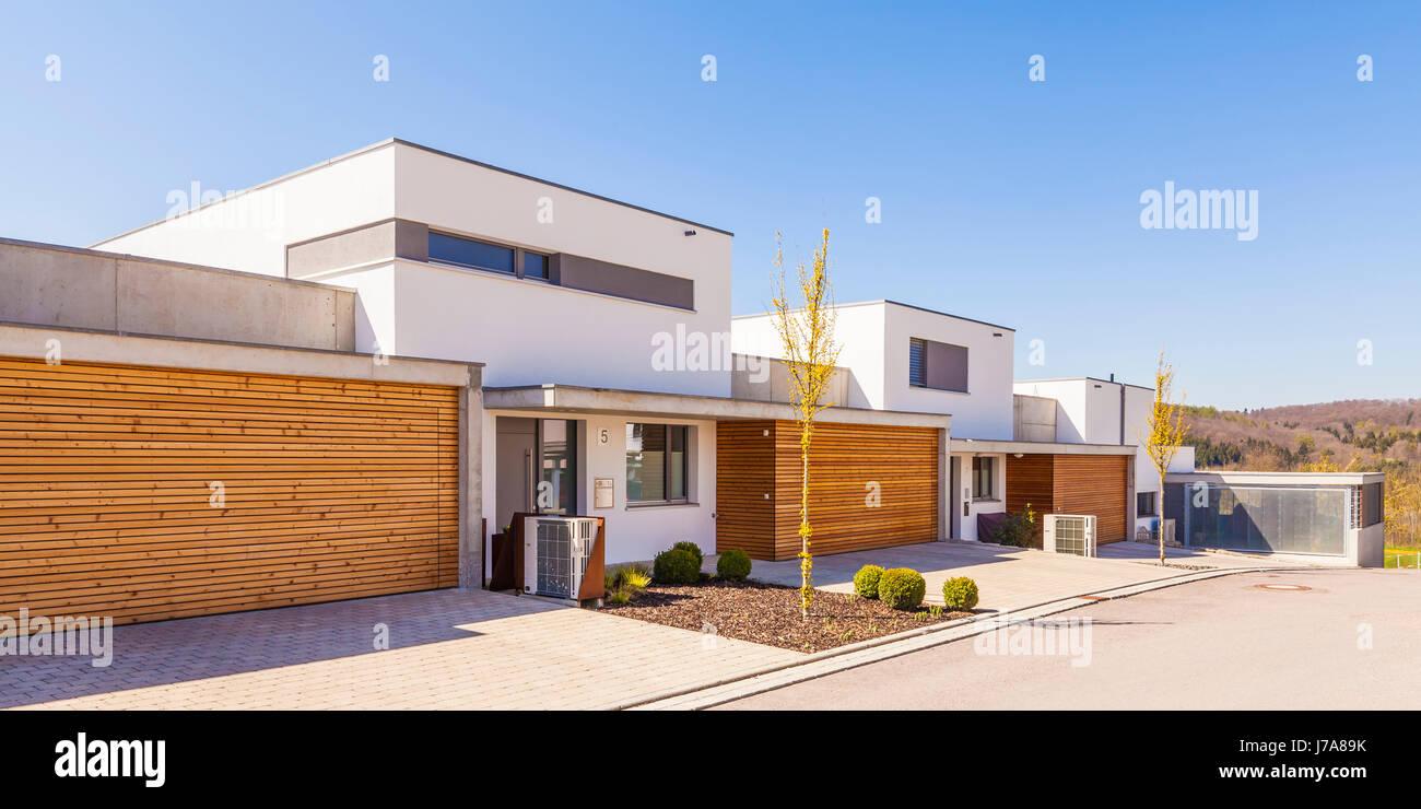 Verführerisch Moderne Einfamilienhäuser Beste Wahl Deutschland, Baden-württemberg, Tein, Neubaugebiet, Einfamilienhäuser Mit Luftwärmepumpen,