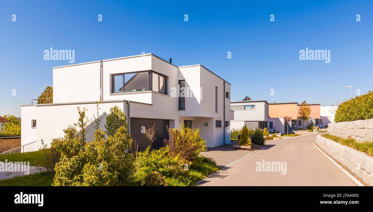Faszinierend Moderne Einfamilienhäuser Foto Von Deutschland, Baden-württemberg, Tein, Neubaugebiet, Einfamilienhäuser, Neubau, Häuser,