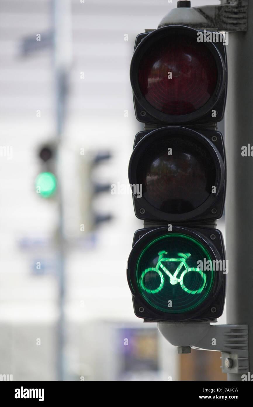 Fahrrad Ampel Grün Stockfoto Bild 142219977 Alamy