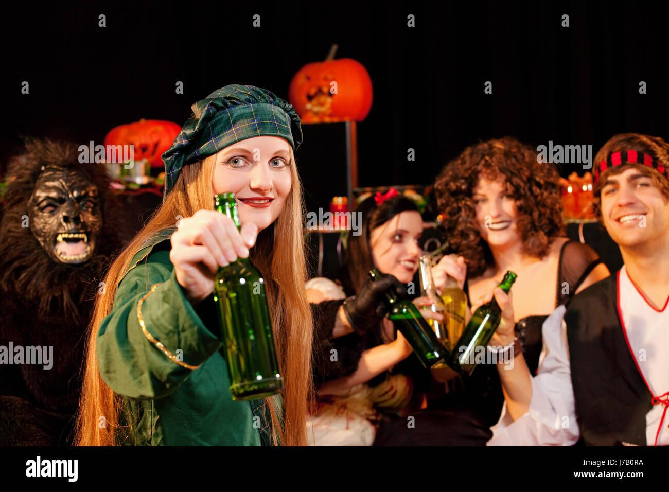 Party für Karneval oder halloween Stockfoto