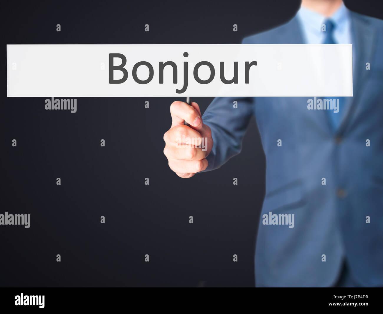 Bonjour Guten Morgen In Französischer Sprache
