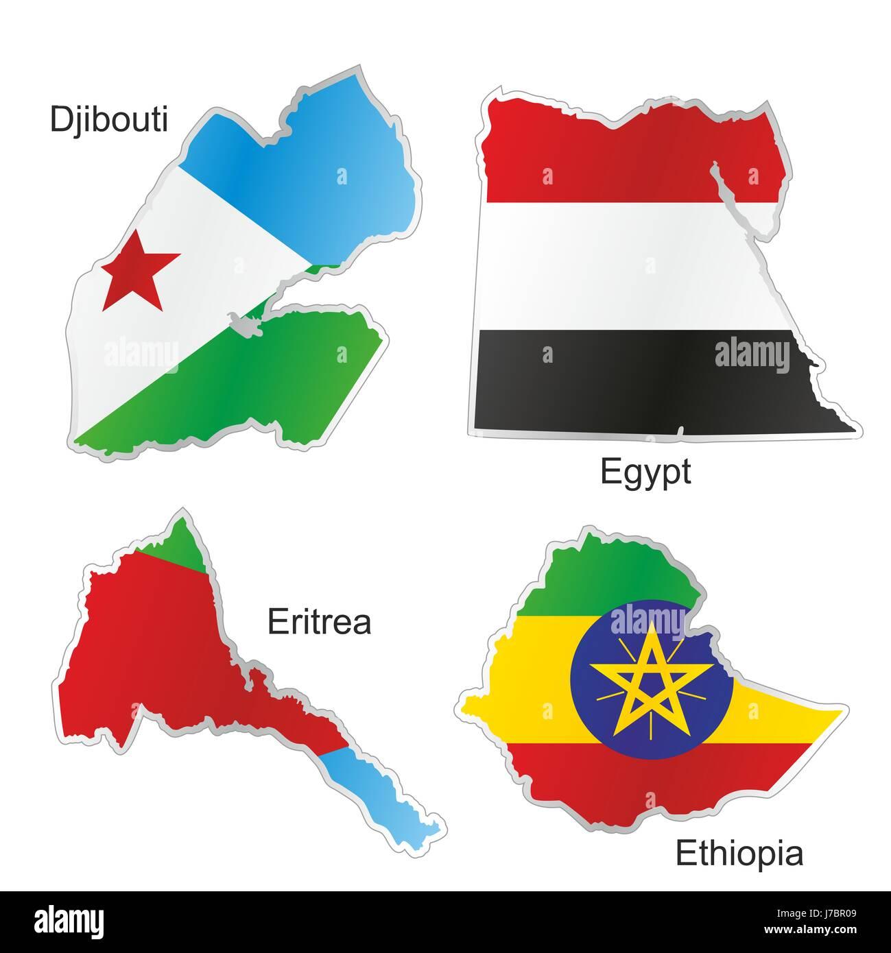 Tunesien Karte Welt.Afrika Tunesien Flagge Simbabwe Sambia Uganda Atlas Karte Von Der