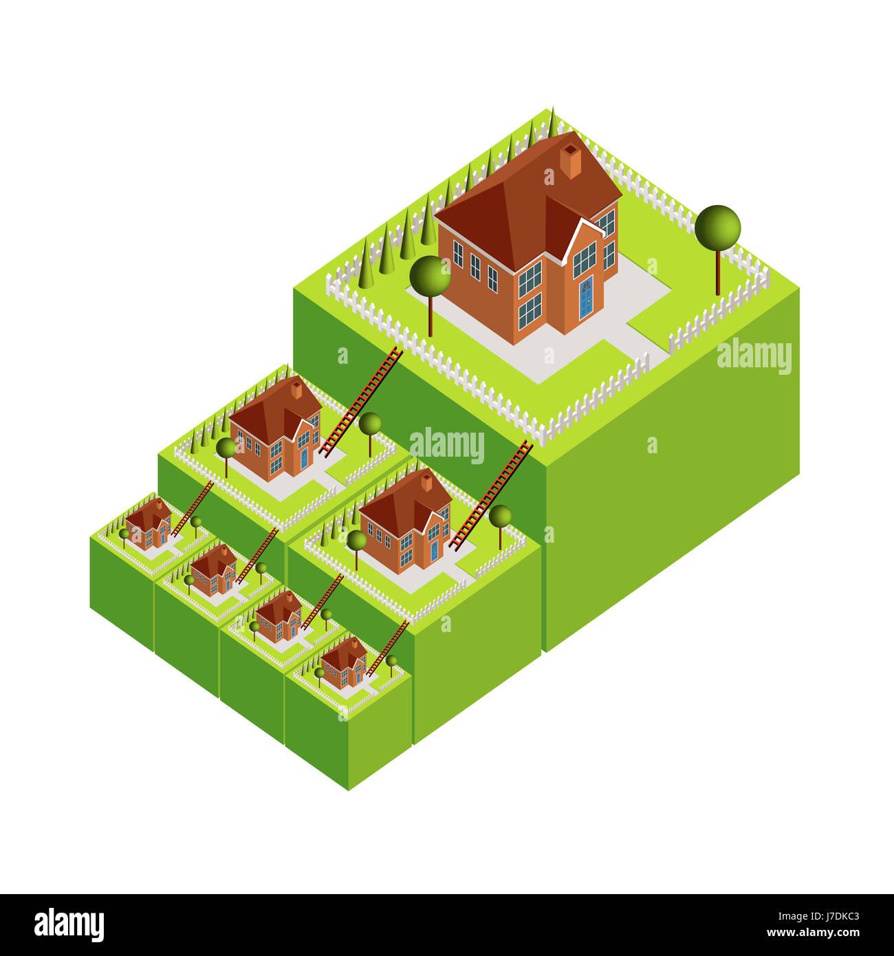 Kabinett Wohnung Miete Hypothek Leiter Haus Gebäude Große Hausbau