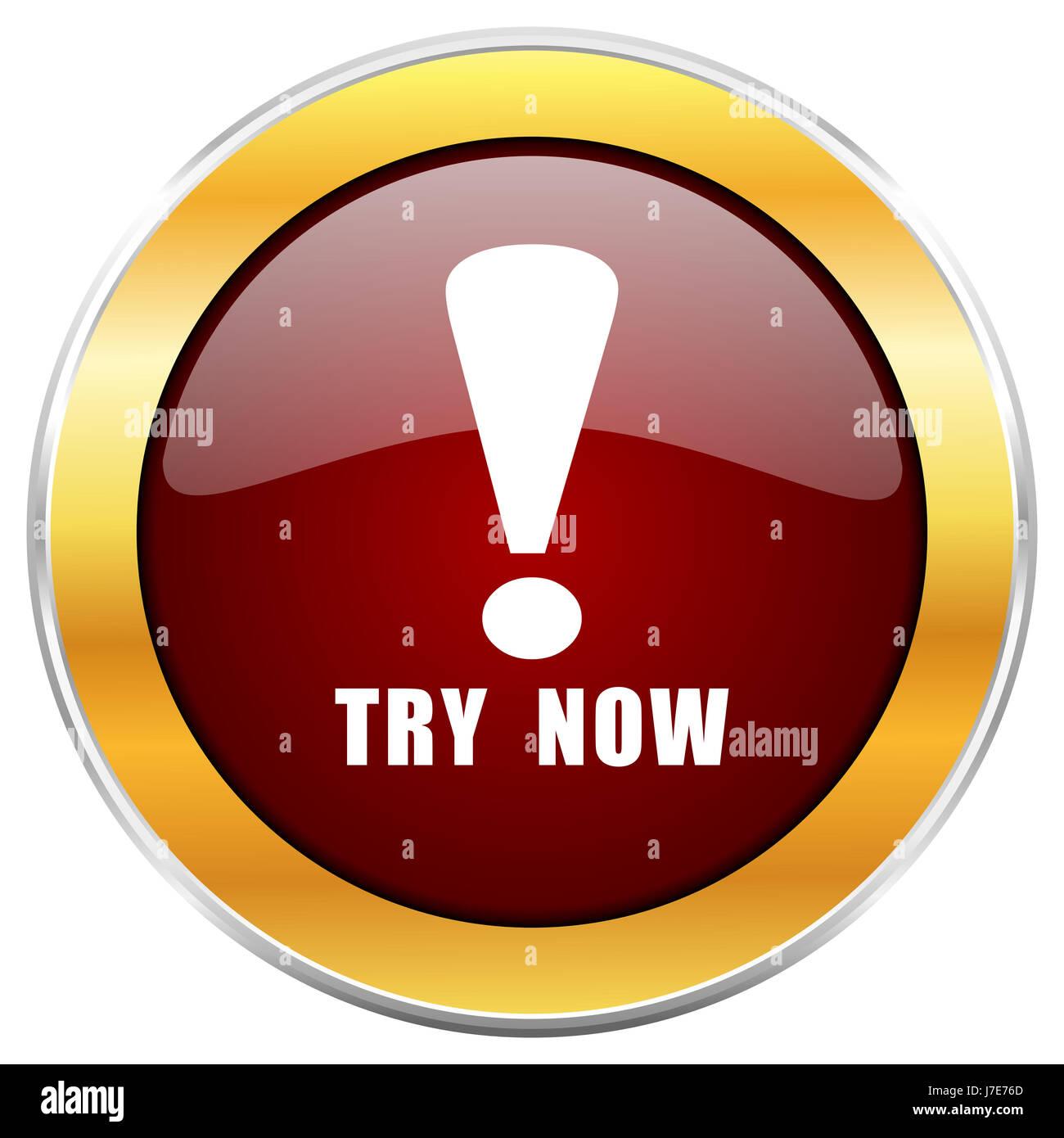 Try Now Icon Internet Button Stockfotos & Try Now Icon Internet ...