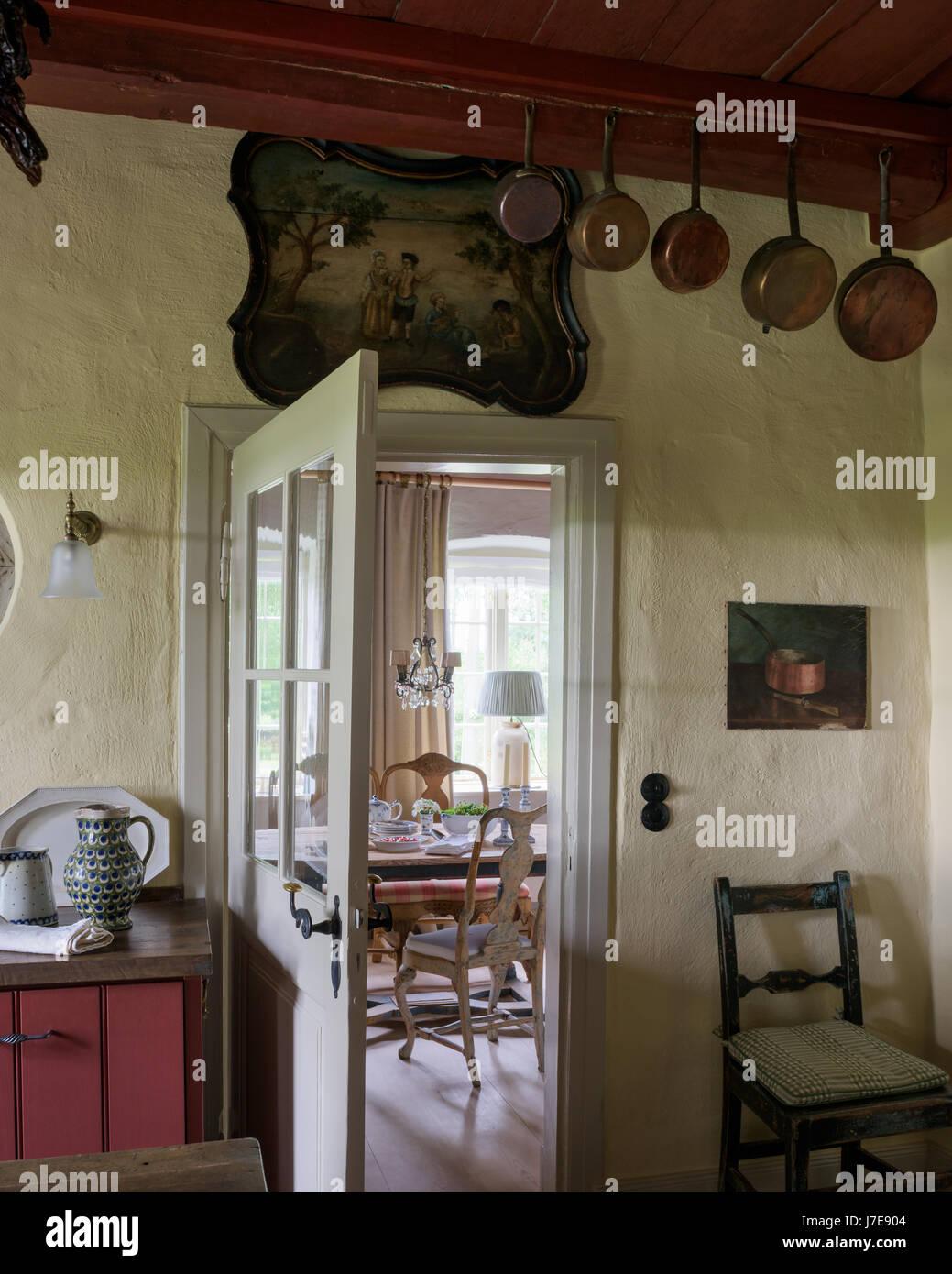 Farmhouse Kitchen House Stockfotos & Farmhouse Kitchen House Bilder ...