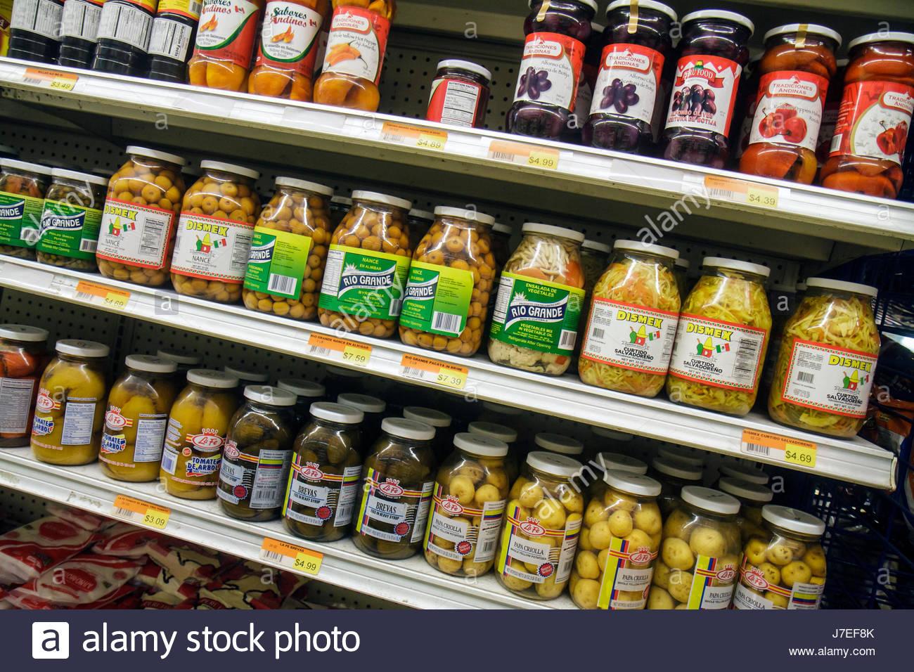 Miami Beach Florida Alton Road lateinischen Lebensmittelgeschäft Geschäft Regal Regale Einzelhandel zum Stockbild