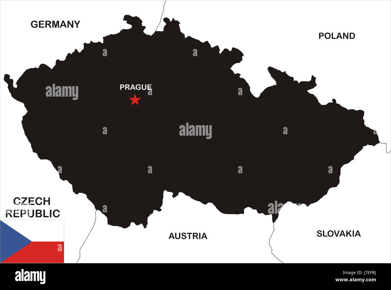 Prag Karte Tschechien.Republik Tschechien Atlas Karte Der Welt Politische Prag Abbildung