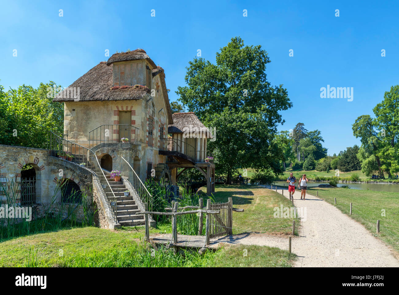 Moulin (Mühle) im Hameau De La Reine (Königin Hamlet), Château de Versailles, Domain de Versailles, Stockbild