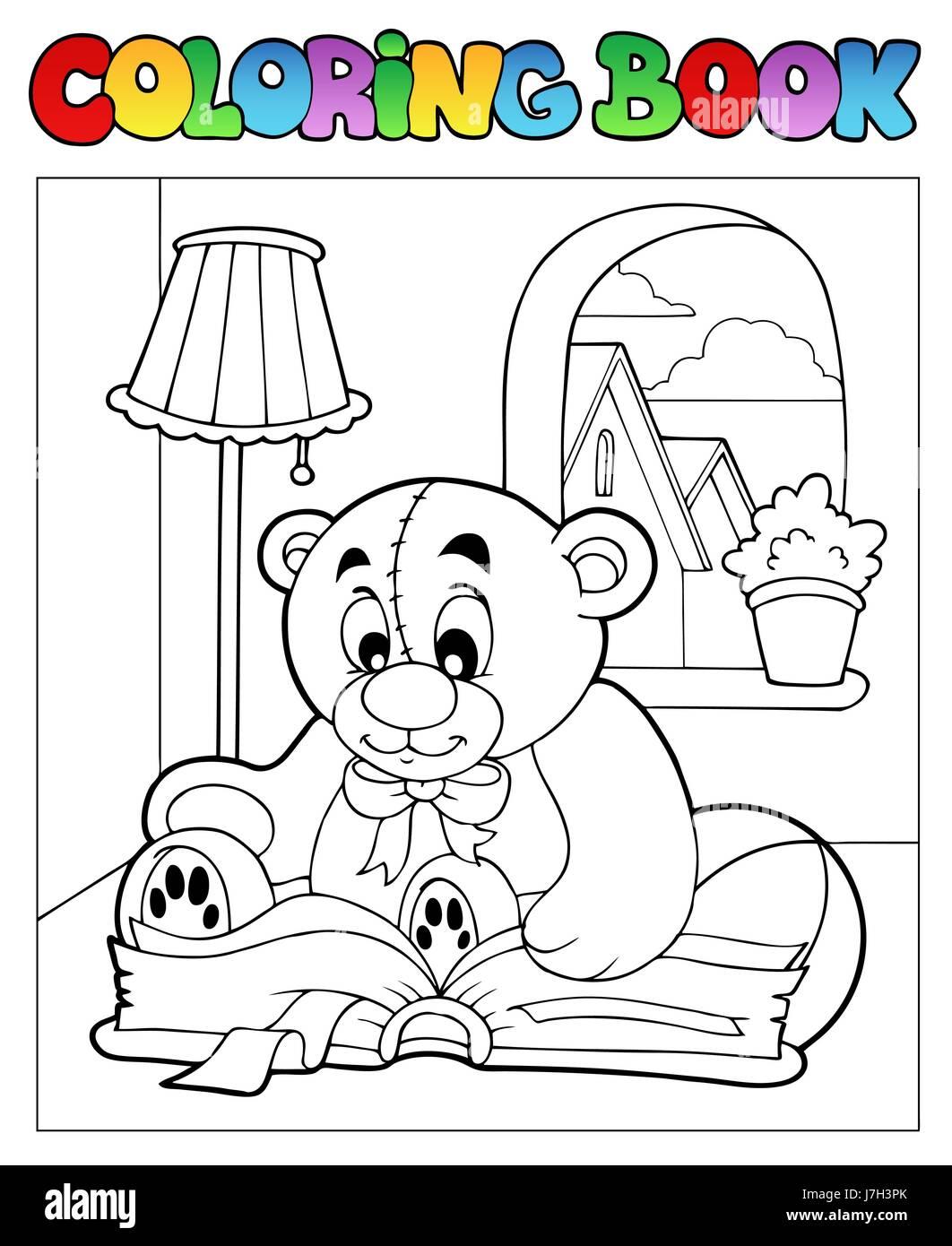 Farbe Bär Teddy Teddybär Teddybär Farbe bemalte Färbung Buch lachen ...