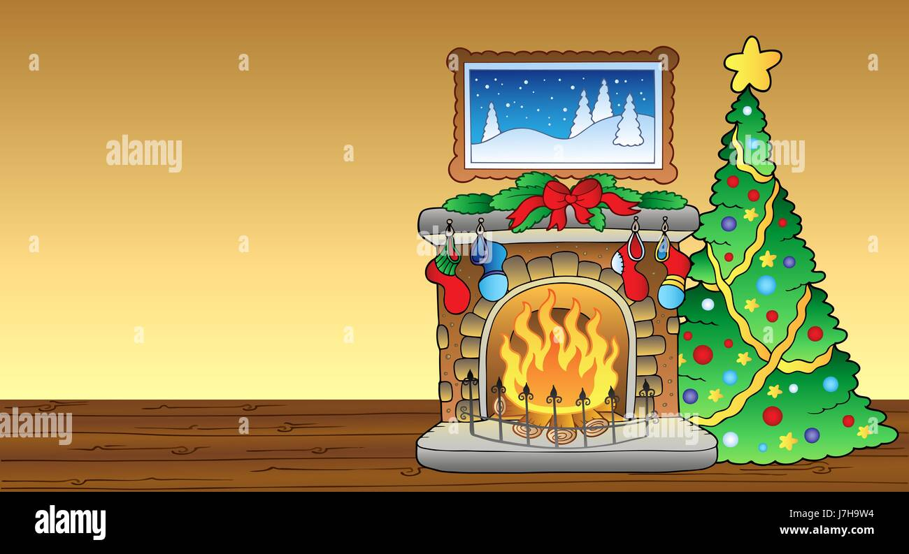 Feuer Flächenbrand Kaminofen Karte platzieren Sie Weihnachten Herd ...