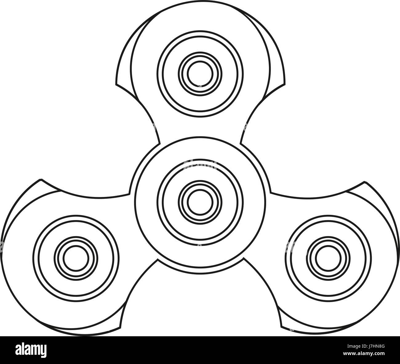 Hand-Spinner. Stress Relief Ridget Spielzeug Symbol. EDC Spielzeug ...