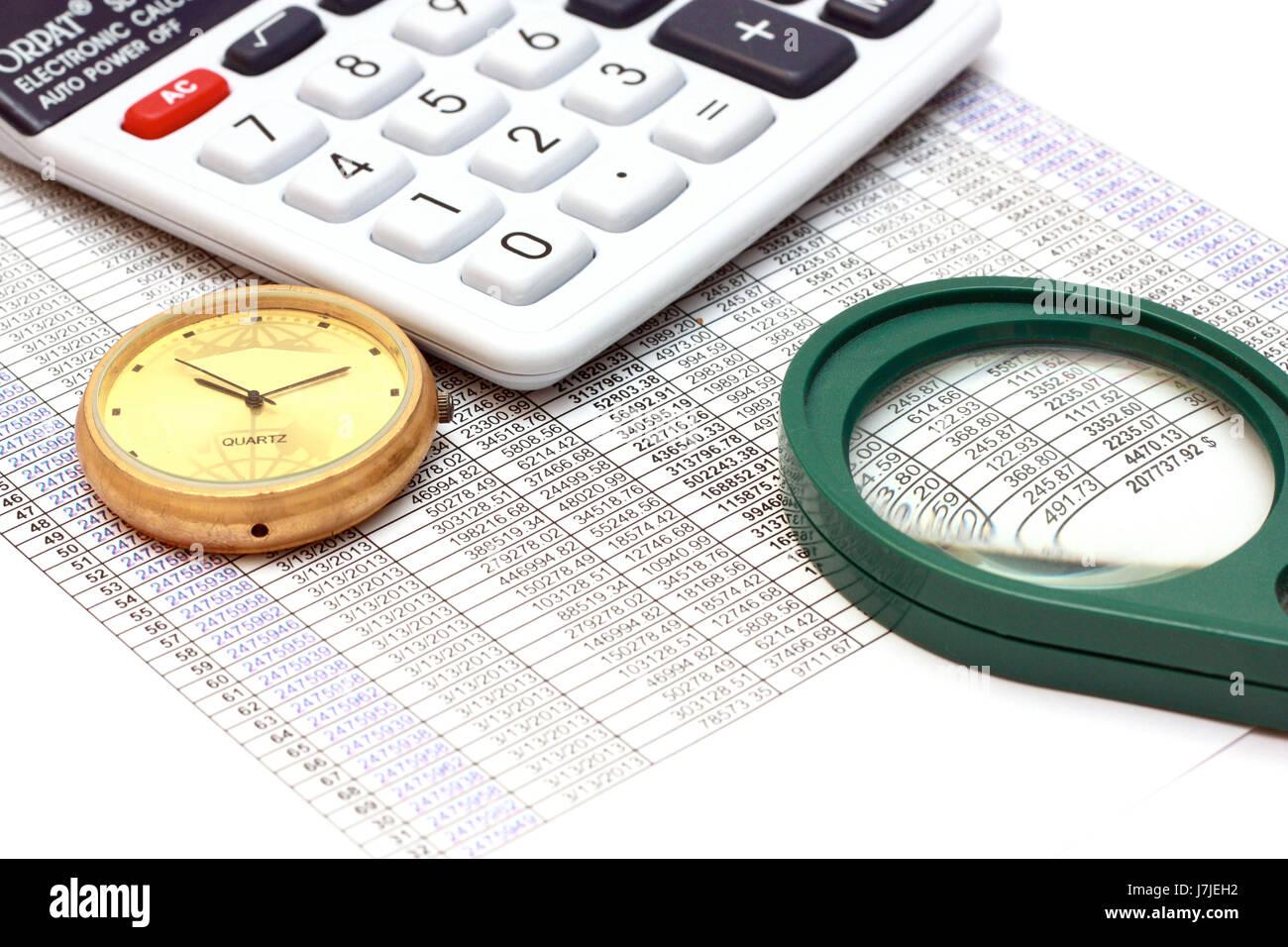 Buchhaltung ist in jedem Unternehmen wichtig. Business ist eine Zahl ...