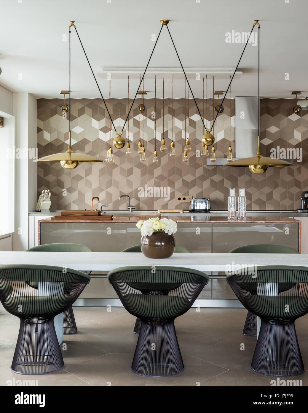 Marmor Arbeitsplatte Kucheninsel Mit Bulthaup Einheiten Und Messing