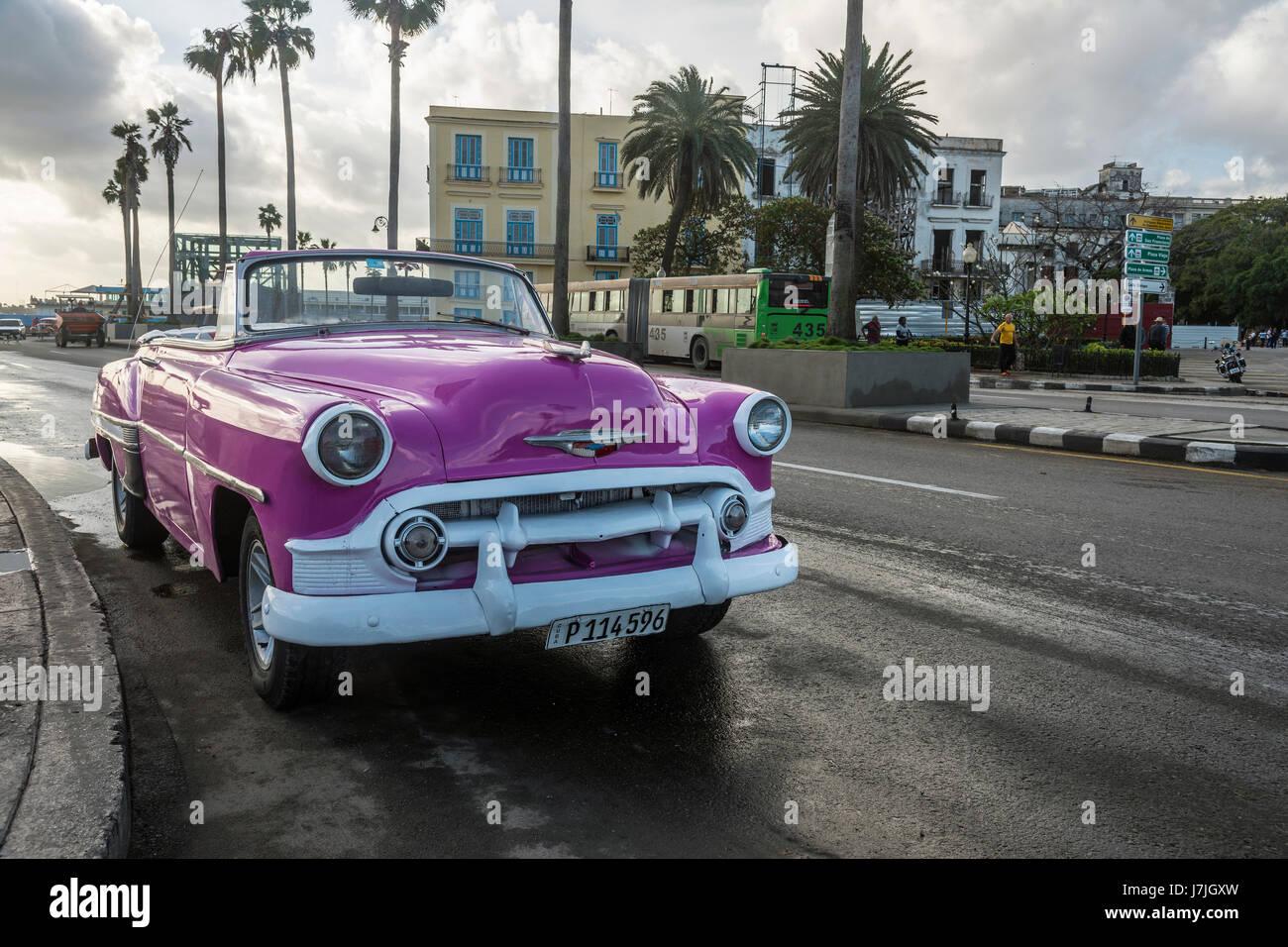 Oldtimer in Havanna, Kuba Stockbild