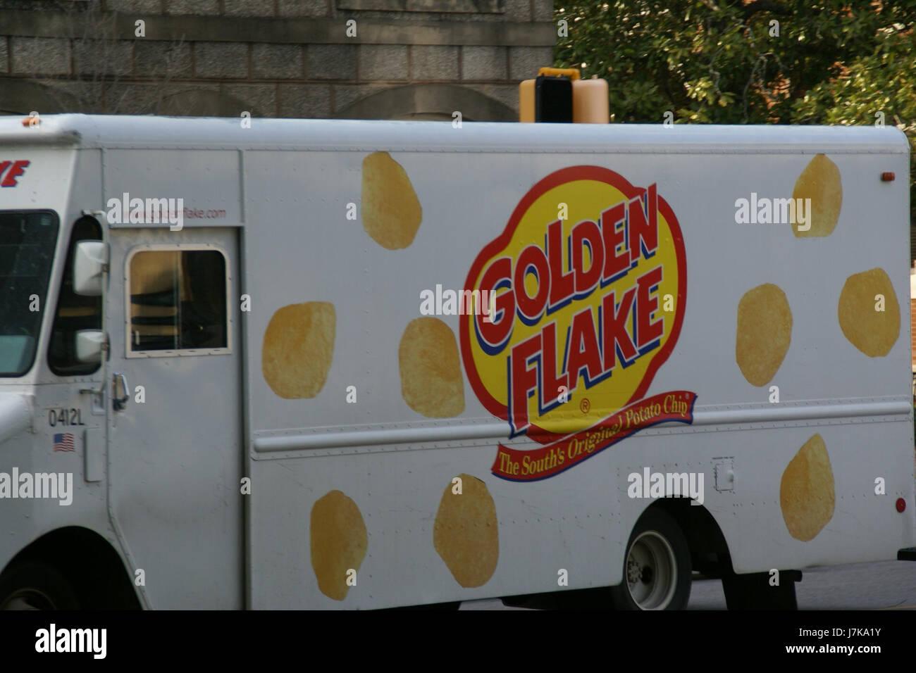 2011.02.18.171004 Lieferwagen Golden Flake Bainbridge Georgien Stockfoto