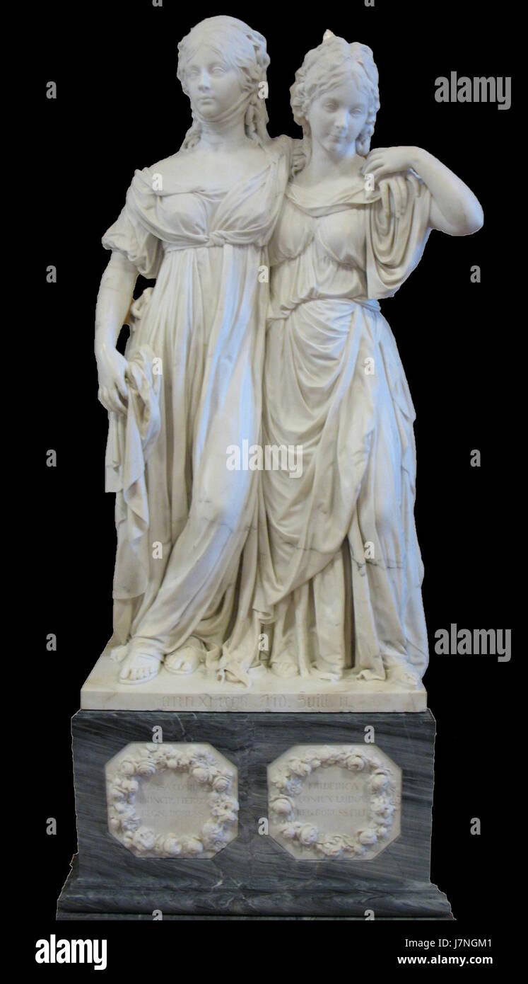 1795 Schadow Prinzessinnengruppe anagoria Stockfoto