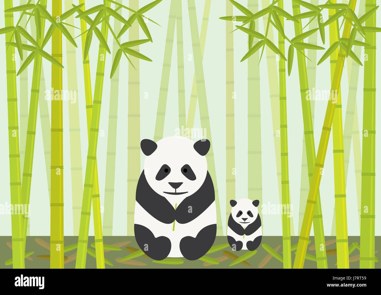 Tierische Bar Wildlife Bambus China Cub Babypanda Essen Essen Isst
