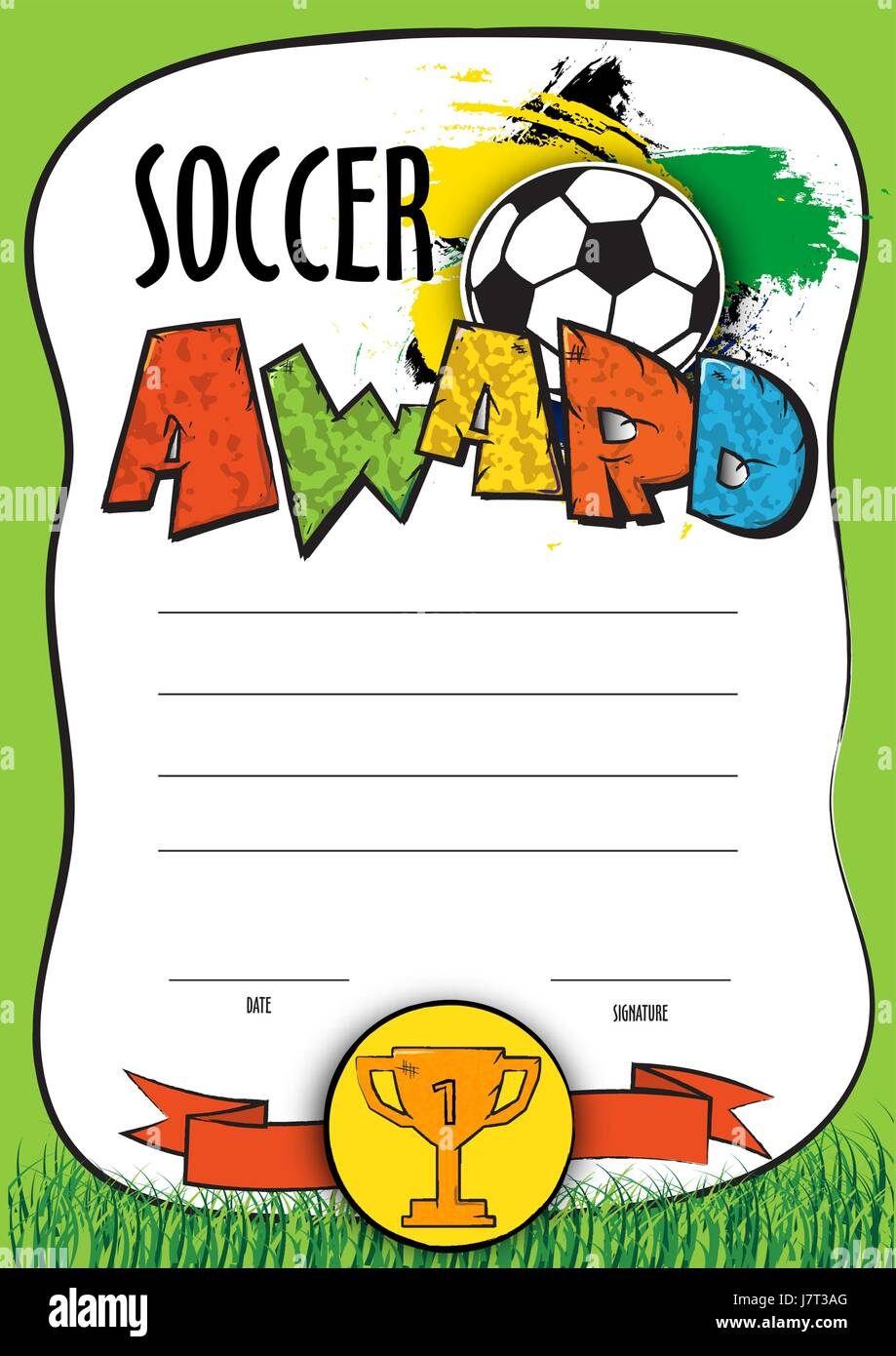 Vektor Vorlage Zertifikat-Fußball-Europameisterschaft. Kind-Diplom ...