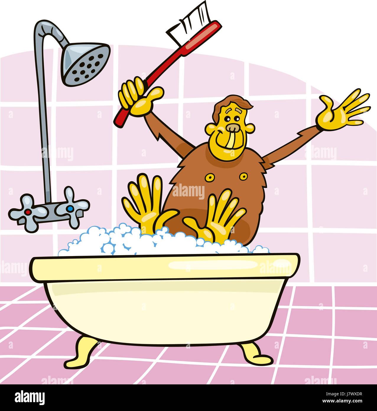 Affe Abbildung Lustige Bad Badewanne Badewanne Badewanne Humorvollen