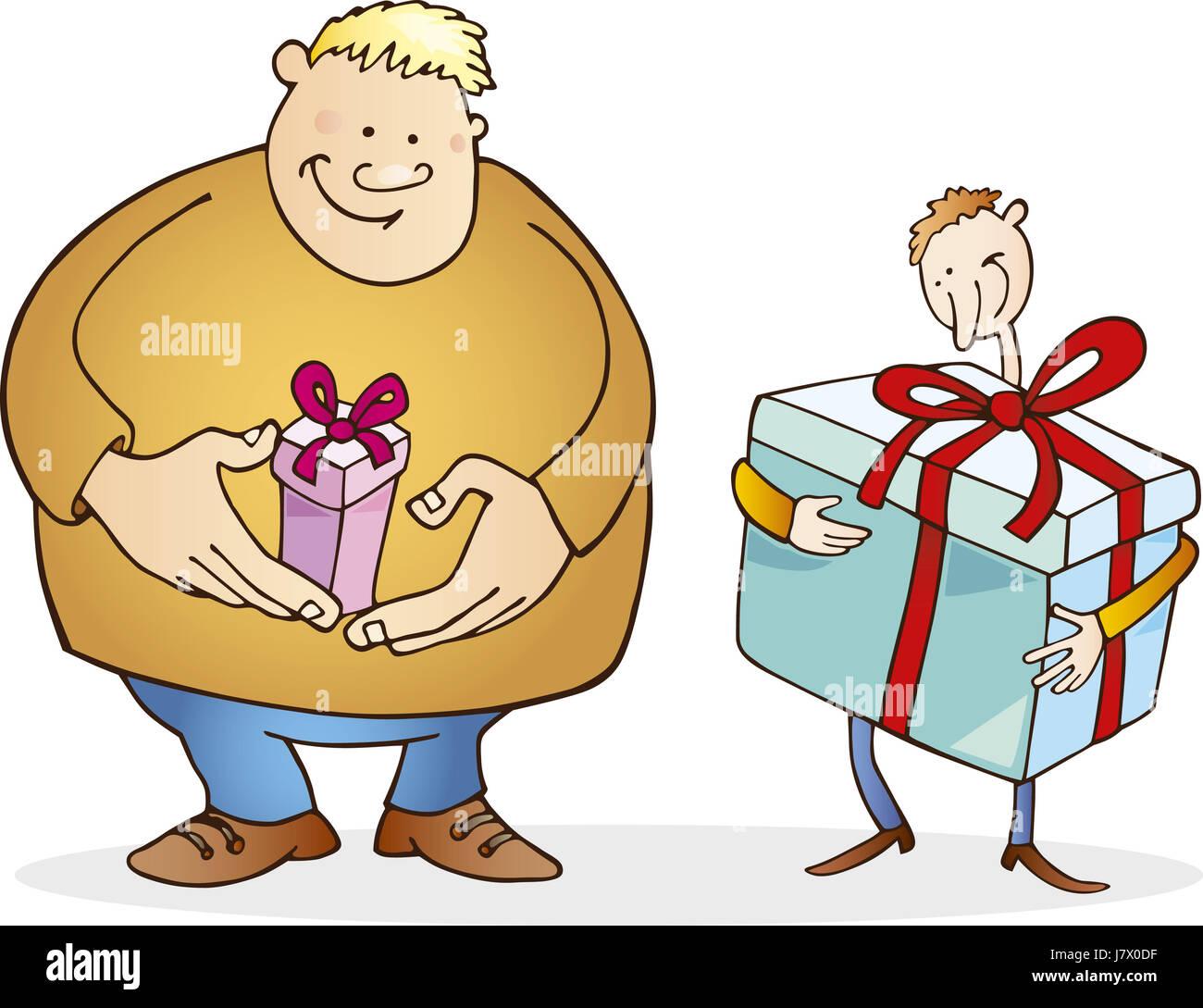Abbildung Geschenk Weihnachten Cartoon Geburtstag Freund Weihnachten ...