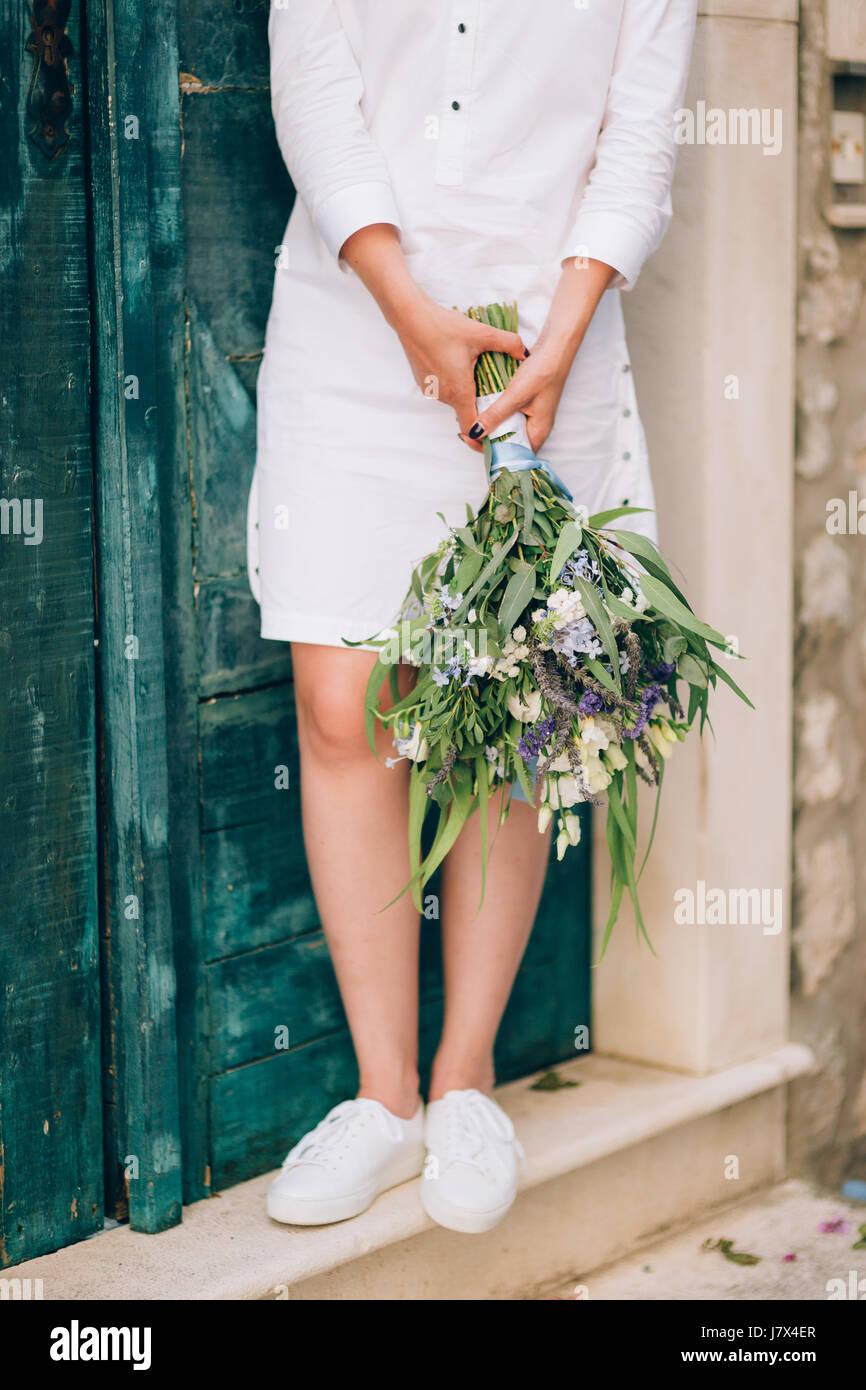 Hochzeit Brautstrauss Lisianthus Rosen Lavendel Schleierkraut