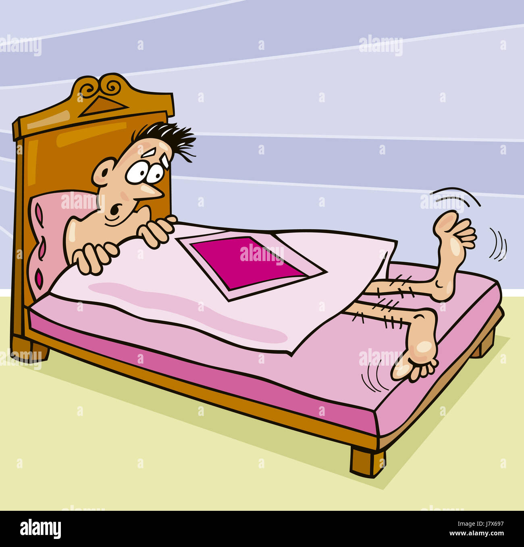 Kleine Winzige Kleine Kurze Illustration Karikatur Quilt Troster