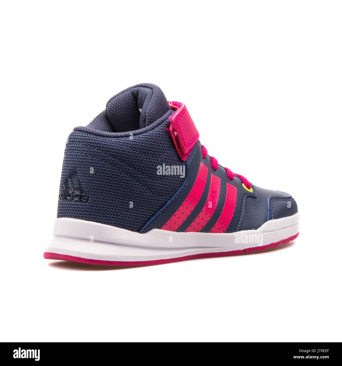 Adidas Jan BS 2 Mitte C Kinder dunkel blaue Turnschuhe mit