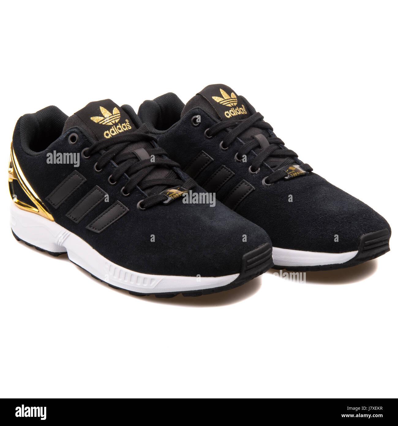 Adidas ZX Flux W Damen Sneakers von Schwarz und Gold