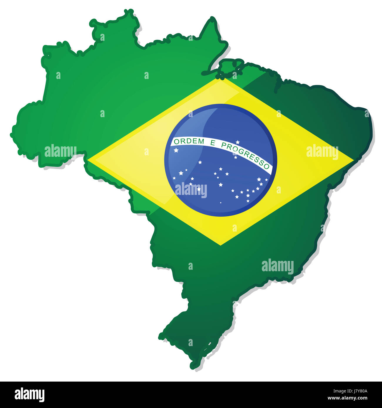 Brasilien Karte Welt.Flagge Brasilien Süd Amerika Latein Karte Atlas Landkarte Von Der