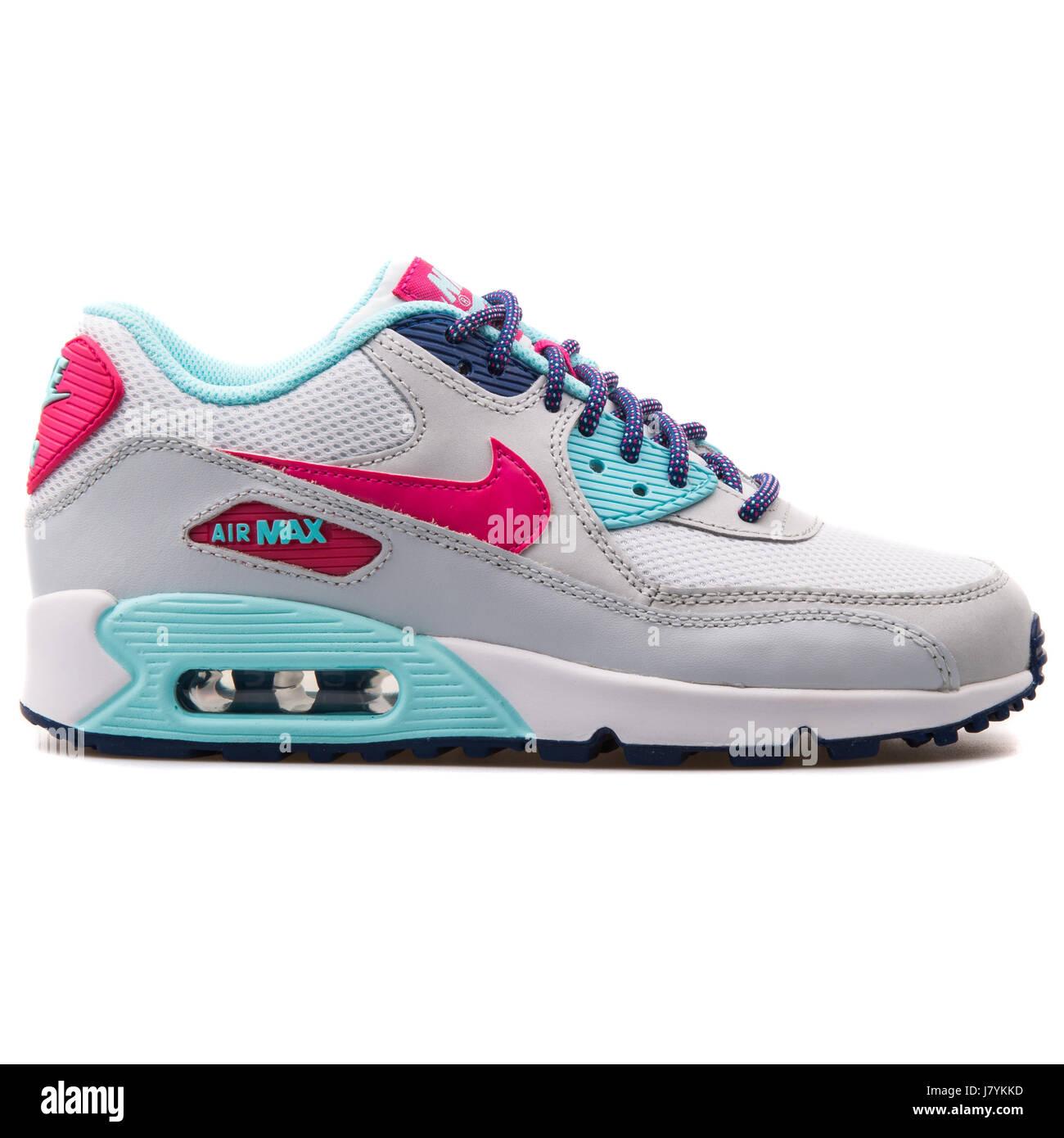 Nike Air Max 90 Mesh (GS) Jugend weiße lebendige rosa Copa