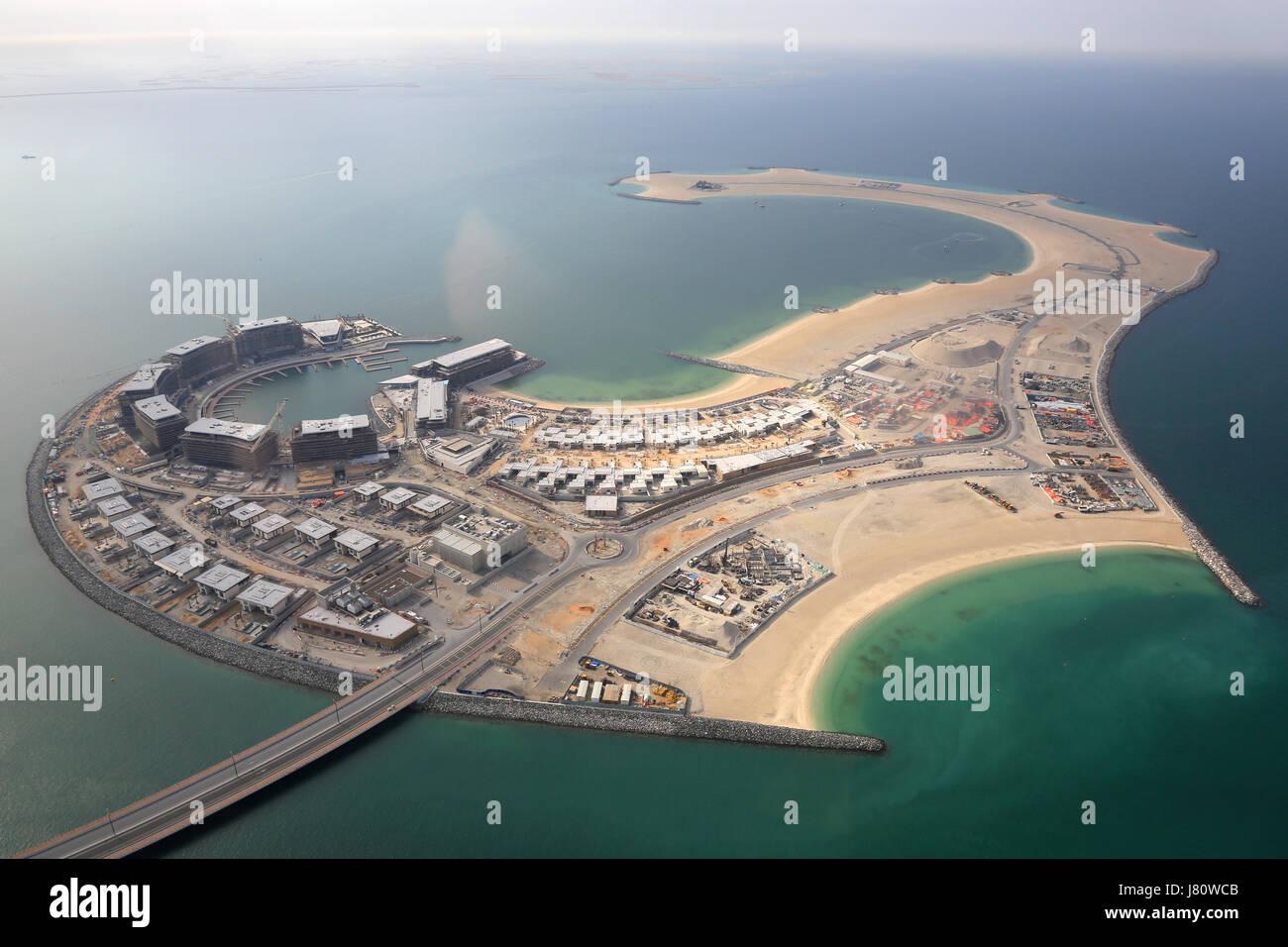 Dubai-Daria-Insel Luftbild Fotografie Vereinigte Arabische Emirate Stockbild