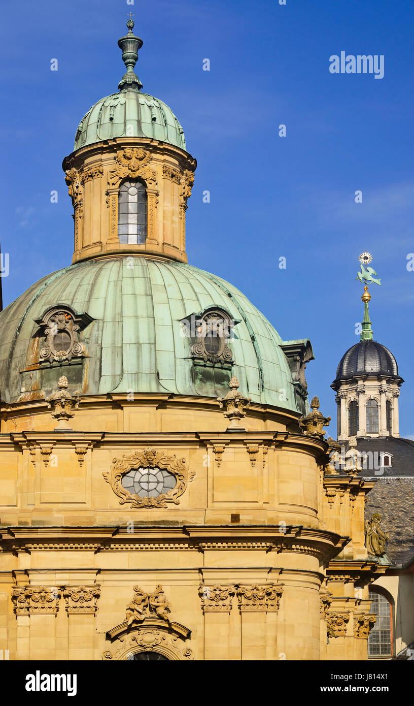 Deutschland, Bayern, Würzburg, Neumünster Kirche, die Kuppel. Stockbild