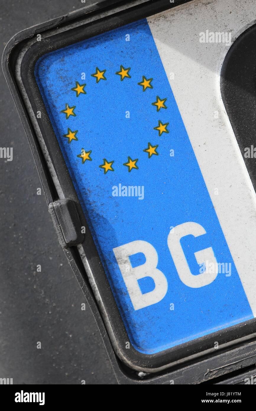 Eu Registration Plate Stockfotos & Eu Registration Plate Bilder - Alamy