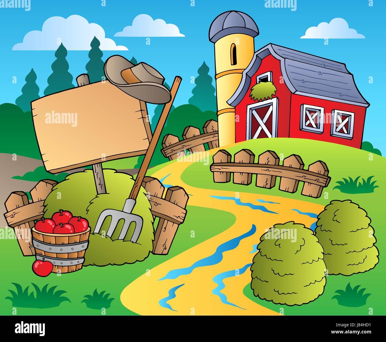 Farmyard Barn Cartoon Stockfotos & Farmyard Barn Cartoon Bilder - Alamy