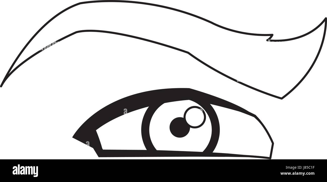 Charmant Markiertes Bild Des Auges Galerie - Anatomie Von ...