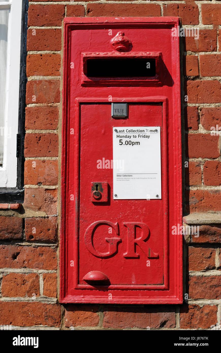 Postfach Mauer Ziegel Englisch Rot Eisen British Sperre