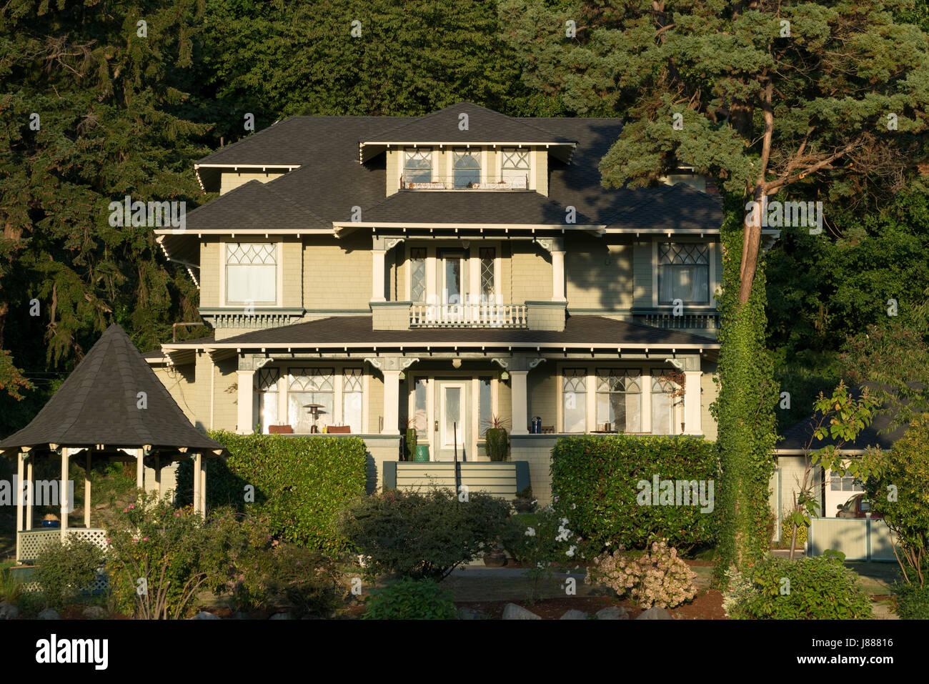 USA, Washington, Seattle, Haus im viktorianischen Stil Stockfoto