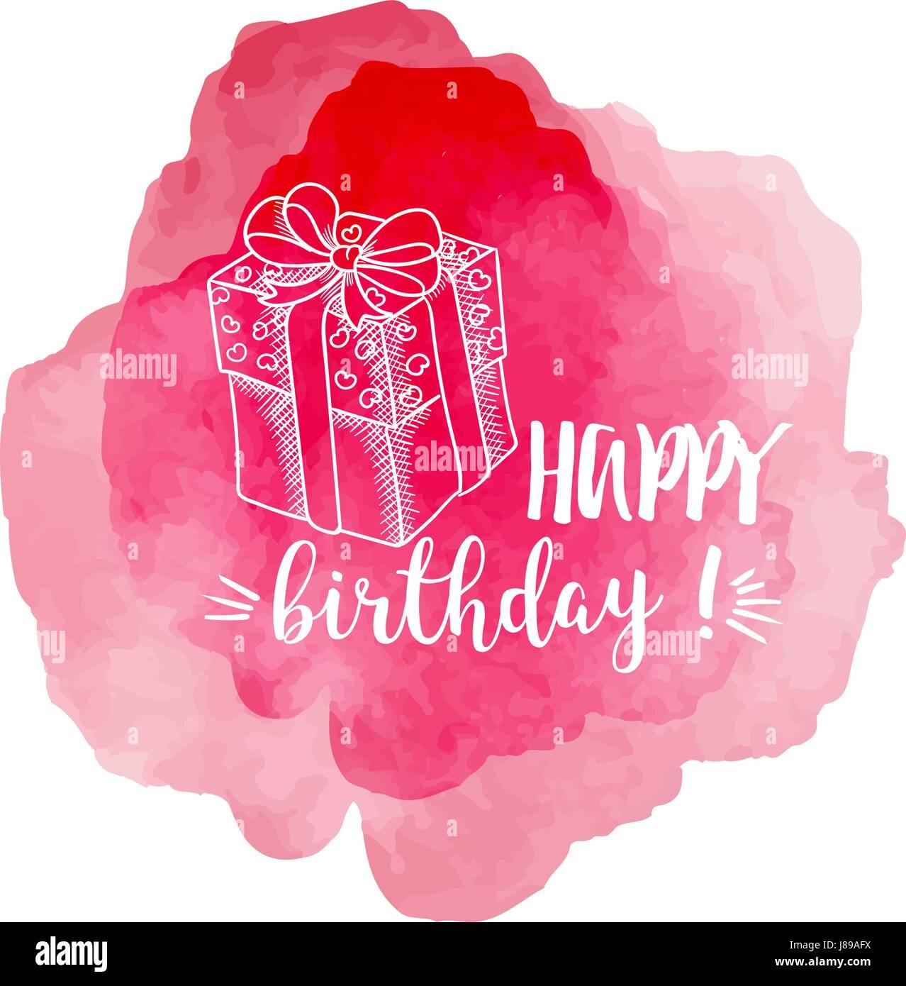 Alles Gute Zum Geburtstag Rosa Vektor Illustration Vektor