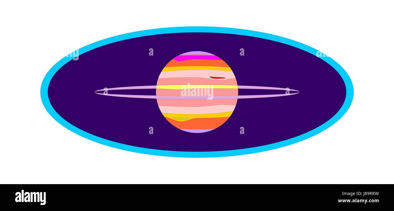 Kosmos, Weltraum, Illustration, Logogram, Globus, Planeten, Erde, Welt, Vignette, Stockbild