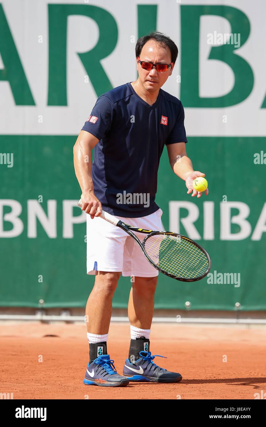 Paris Frankreich 28 Mai 2017 Michael Chang Tennis Michael Chang