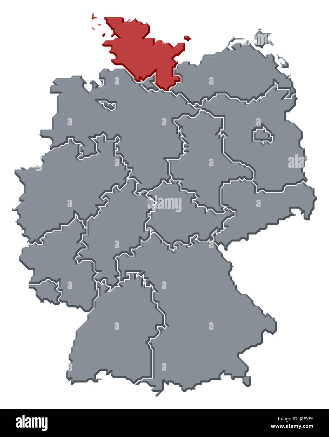 Deutschland Bundesrepublik Deutschland Karte Atlas Weltkarte