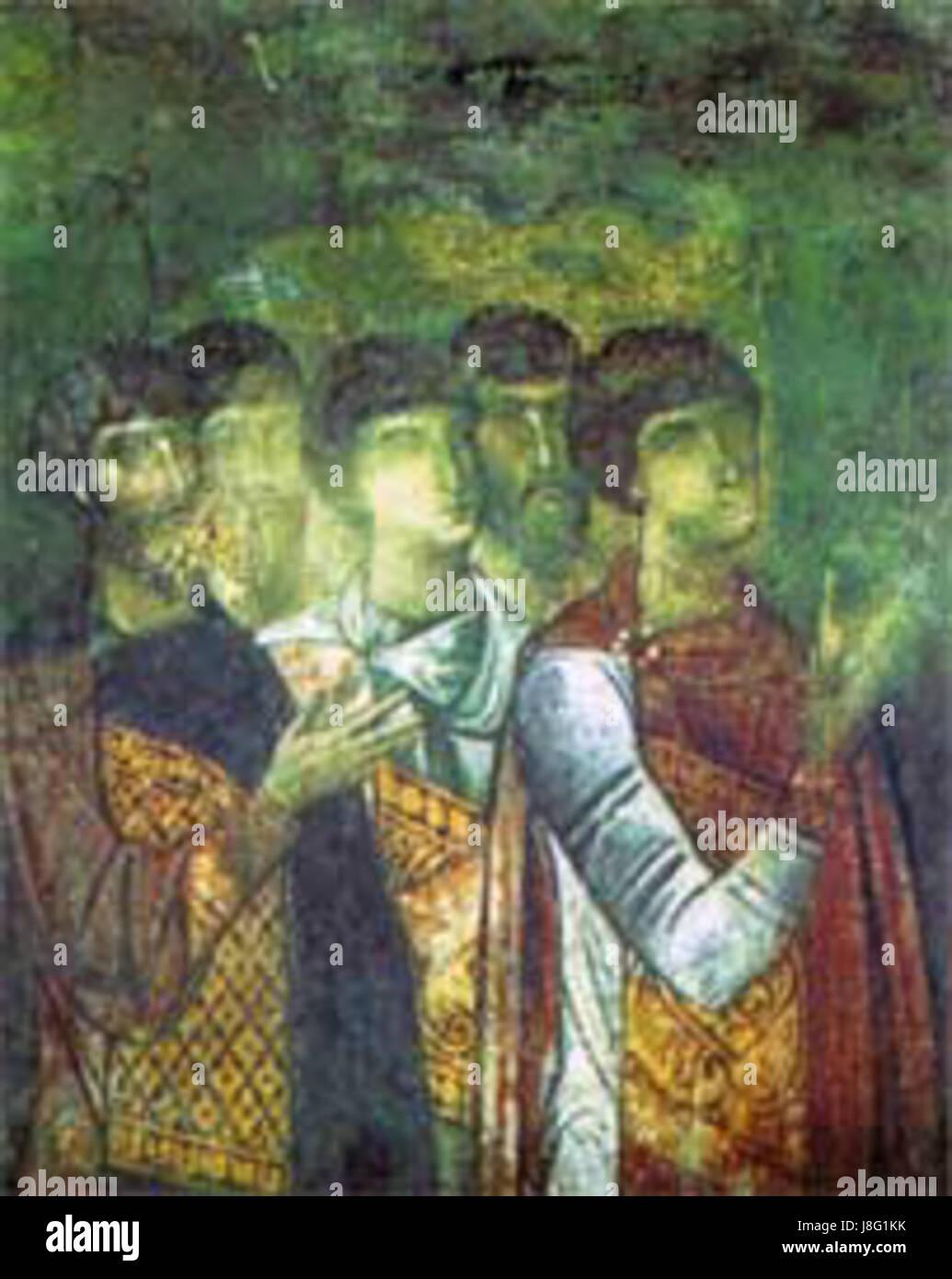 Tag Des Jüngsten Gerichts Ein Fresko Aus Aladsha Stockfoto Bild