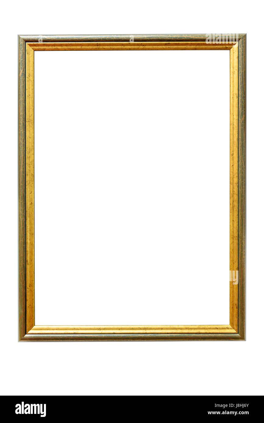 Wooden Photo Frame Golden Vintage Stockfotos & Wooden Photo Frame ...