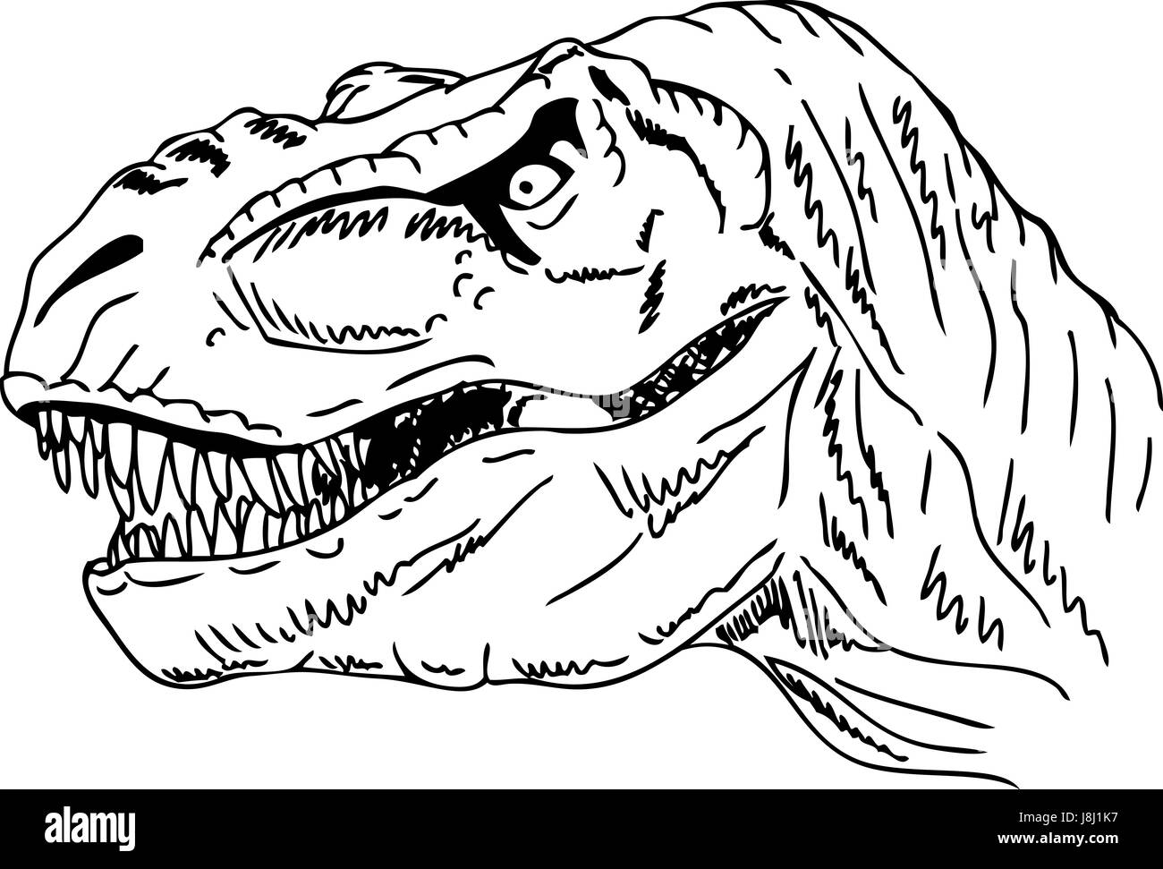 isoliert farbe reptil illustration farbe dinosaurier