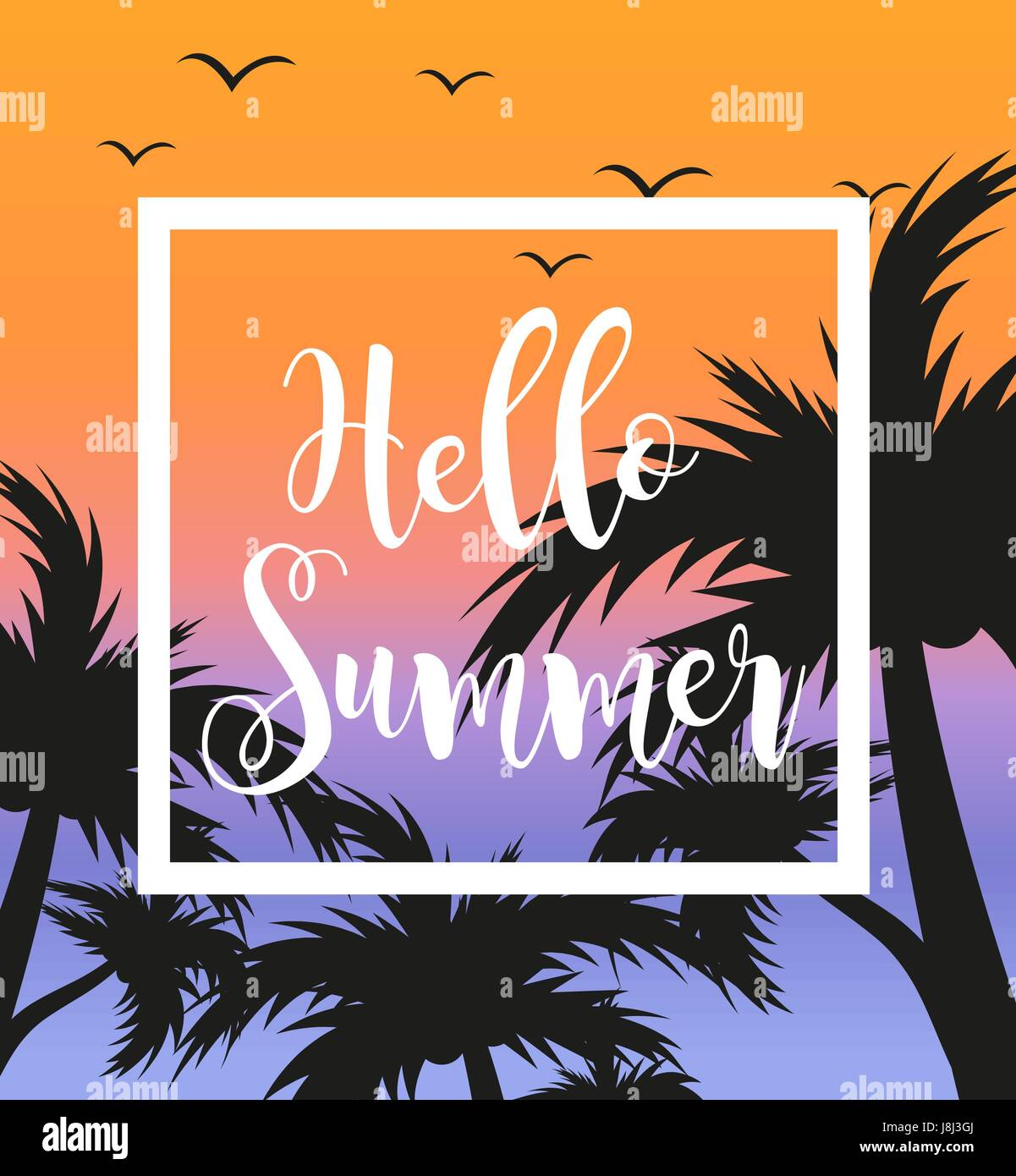 Summer Party Poster Flyer Background Stockfotos & Summer Party ...