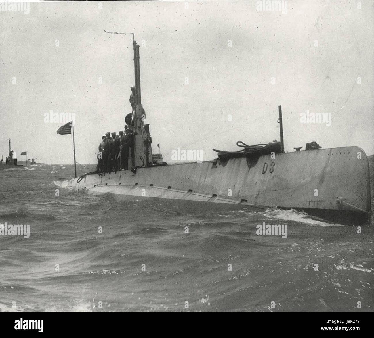 U-Boot-D3 - amerikanisches u-Boot 1910 fertig Stockfoto